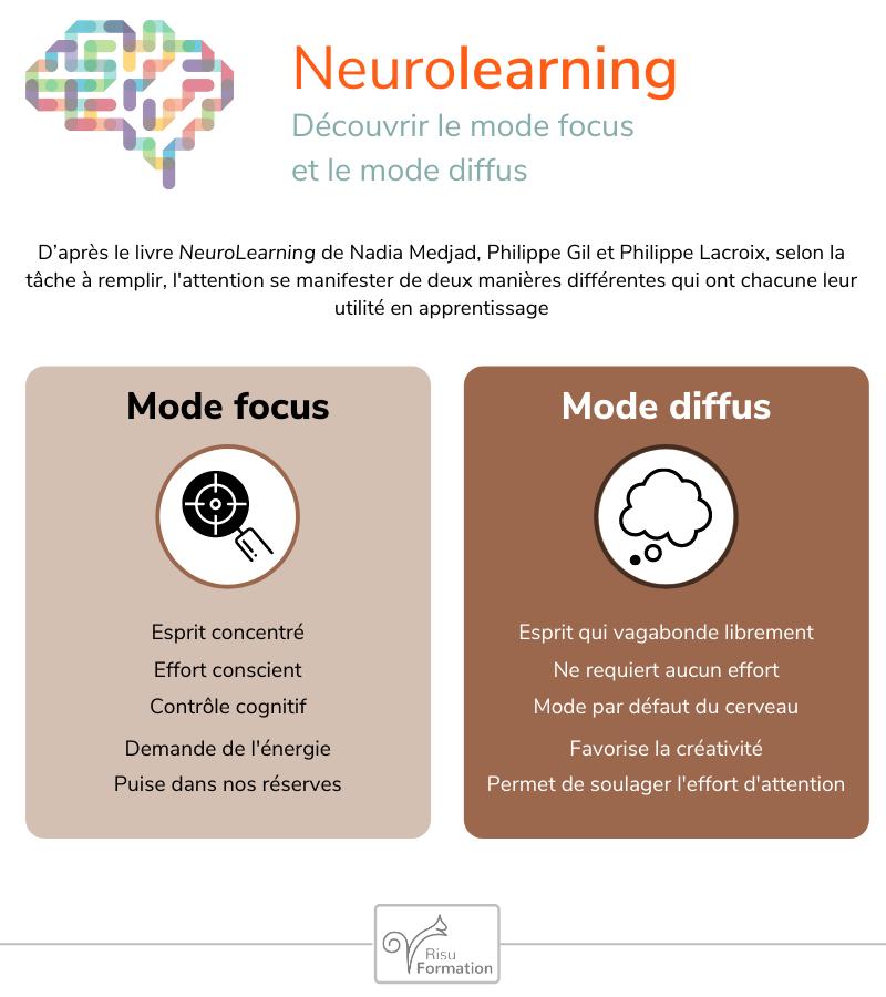 Infographie de la semaine : mode focus et mode diffus de l'attention.